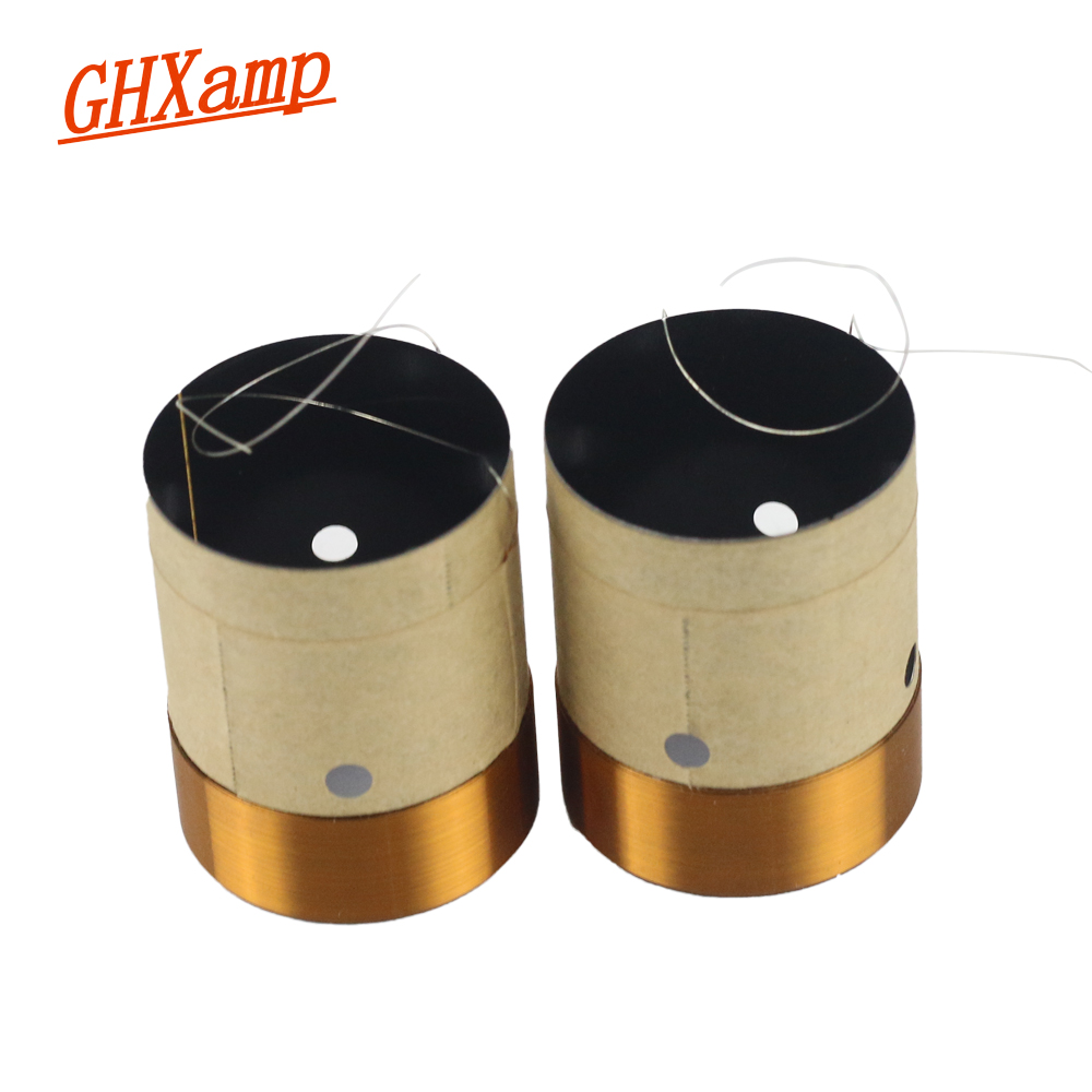 GHXAMP 30.5mm BASV Bass Voice Coil 8OHM High-end Hgh-temperature Round Wire Woofer Subwoofer Speaker Repair Accessories 2PCS