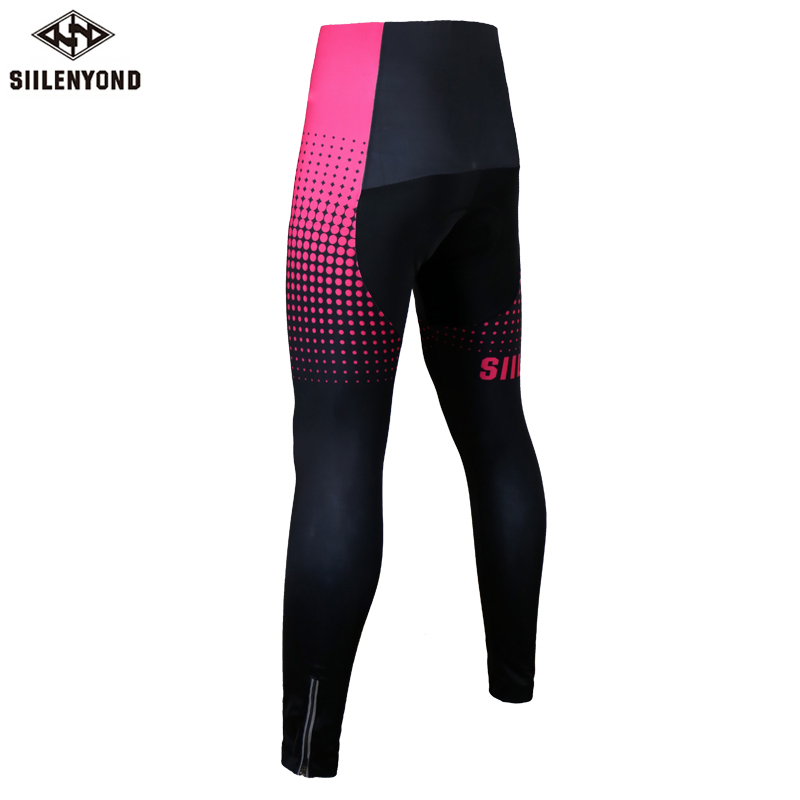 Siilenyond 2019 Pro Women Winter Thermal Cycling Pants MTB Bicycle Cycling Tights Mountain Bike Trousers With 3D Gel Padded 1