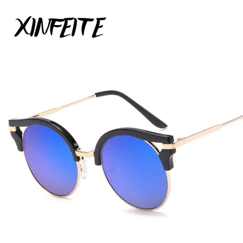 Xinfeite Brand Cat Eye Sunglasses 2018 Women Newest Fashion Coating