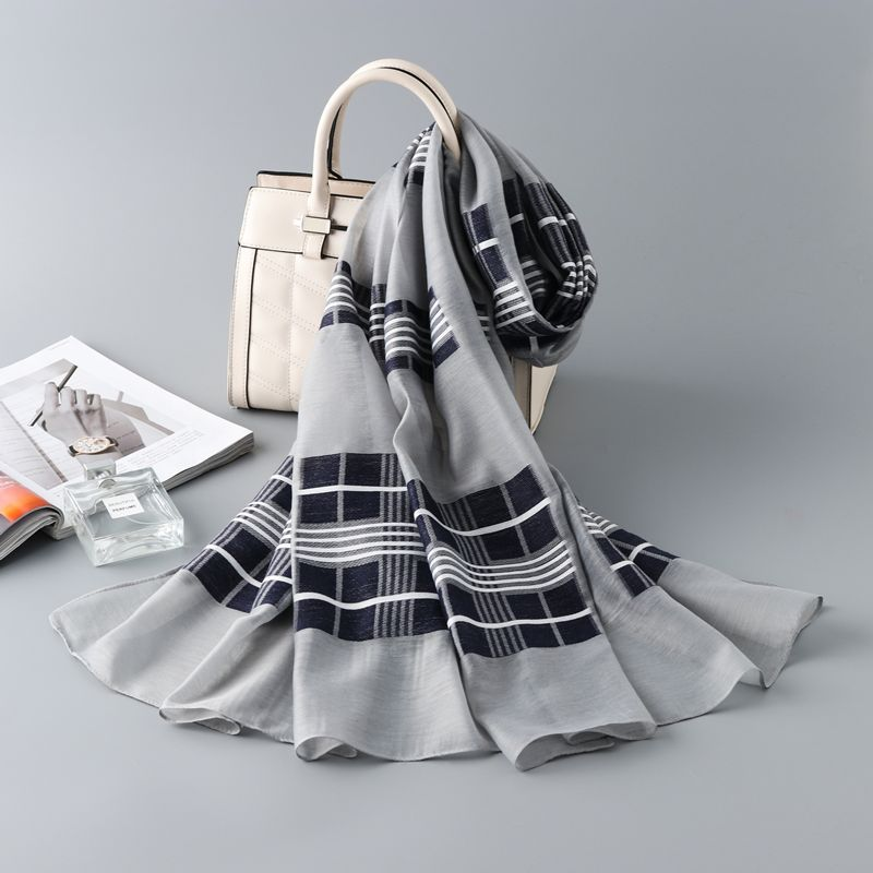 Autumn Winter Women Fashion Cotton   Scarf     Wraps   Lattice Large   Scarves   Head   Scarf