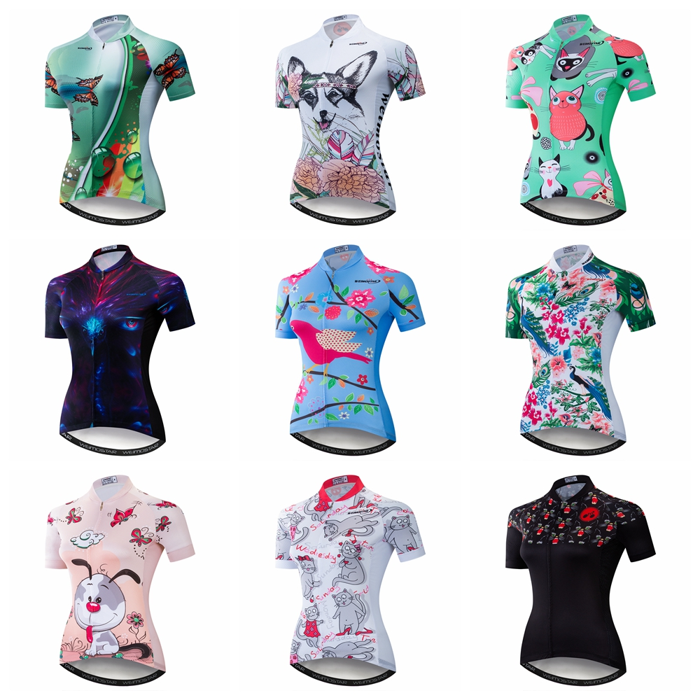 Cycling Jersey Women Bike Shirt 2019 Pro Road MTB Bicycle Clothing Short Sleeve Ropa Ciclismo Female Maillot Racing Top Green