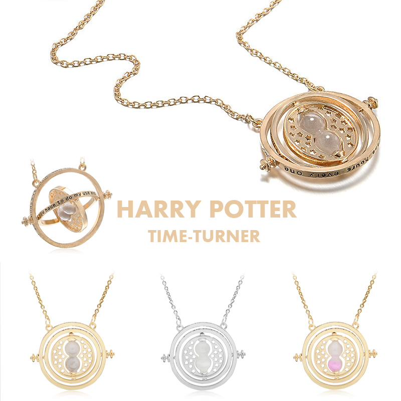 Harri Potter Time Turner Hourglass Necklace Toy For Kids Harri Potter Hermione Granger Kolye Necklace Zaman Turner Metal Toys harri potter magic wands set hermione granger lord hermi neville wand metal potter narvissa dumbledore quidditch time turner toy