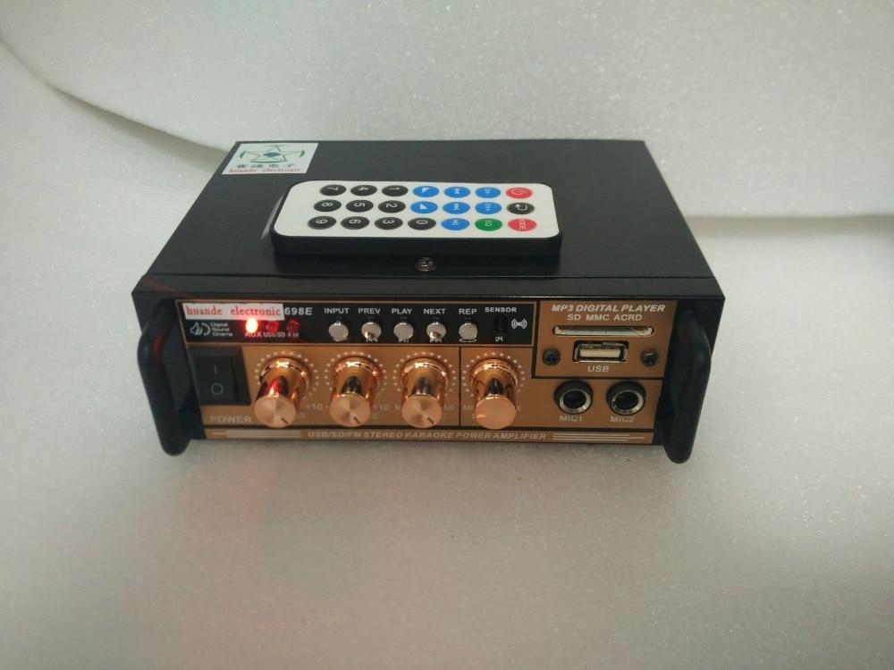 220-240V home 12V car amplifier computer radio MF SD card USB remote control 2.0 channel 60W Bluetooth Audio amplifier