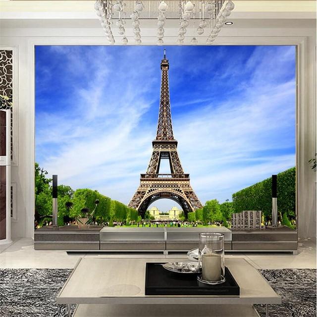 Wandbild Tapete Fur Wohnzimmer Paris Turm Romantische Frankreich