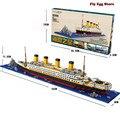 1860 pcs Blocos Kits Modelo em grande escala Do navio Titanic Barco de brinquedo para o menino adulto menina Hobbies educacional blocos de construção de brinquedos