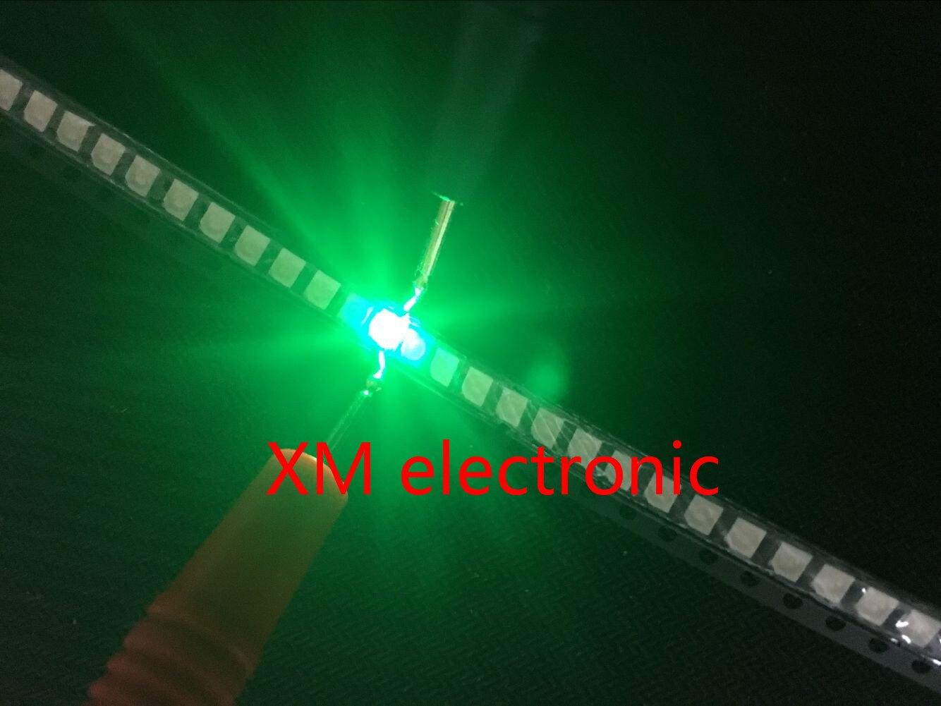 500pcs SMT SMD LED 3528 Green Ultra Bright Light-Emitting Diode LED Diode Chip Lamp