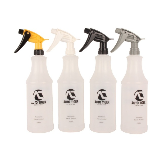1Pc Professional 1000ML Ultra fine Water Mist Cylindrical Spray Bottle HDPE Chemical Resistant Sprayer For QD Liquid Auto detail