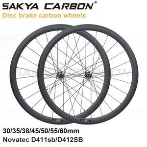 Image 3 - Disc brake full carbon wheels with Novatec D411SB D412SB straight pull hub disc carbon wheels 30mm 35mm 38mm 45mm 50mm 55mm 60mm