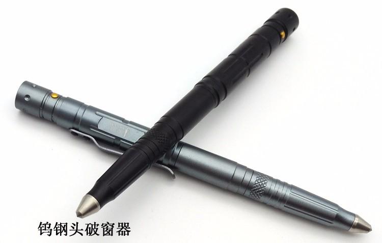 OGECCO utdoor Self Defense Tactical Pen Multi Tool Tungsten Unisex Steel Glass Knife Capacitance Pen Defence with LED light (6)