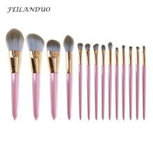 14 ピース/ロットメイクブラシセットアイシャドウファンデーションブレンドブラシ Professional は、高品質化粧品アクセサリー
