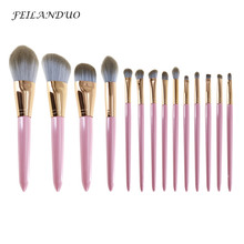 14Pcs/Lot Makeup Brushes Set Eyeshadow Foundation Blending Brush Professional Make Up High Quality Cosmetic Accessory