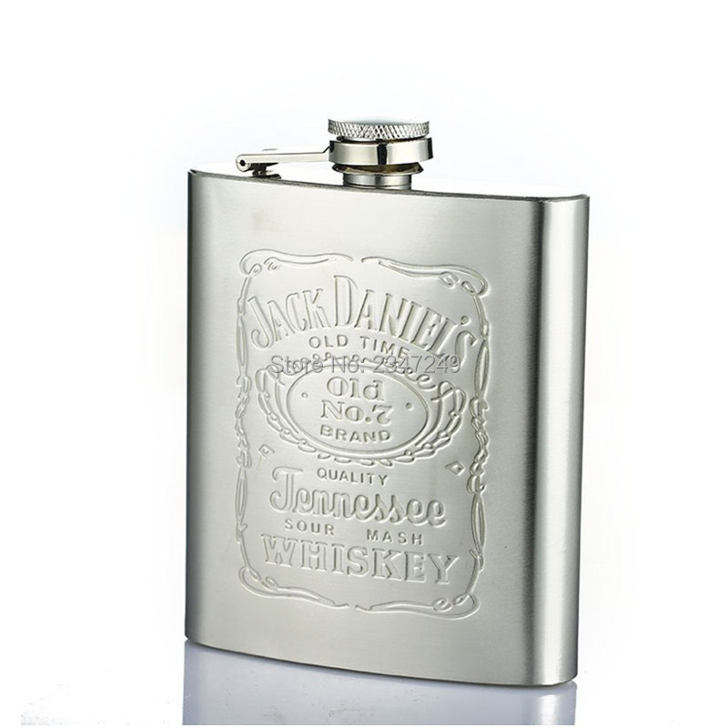 Portable 7oz Stainless Steel hip flask with Box as Gift Whiskey Honest Flask Bottle Mug  ...