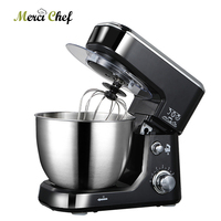 ITOP 4L ELectric Food Mixers Black/Red Professional Mixer With Egg Beater Dough Ice Cream Mixer Maker Machine 6 Speed Blender