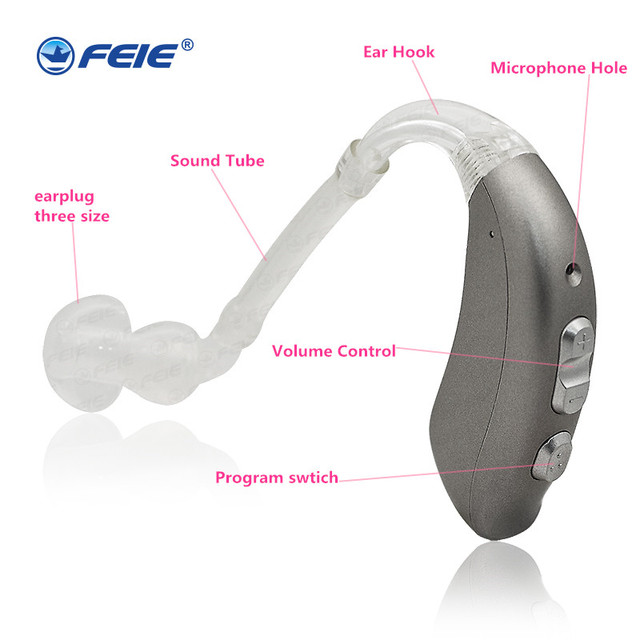 Intelligent Multi-core 8 Channels 16 Bands 4 Programs Built-in Tinnitus Masker Digital Programmable Open Fit RIC Hearing Aid