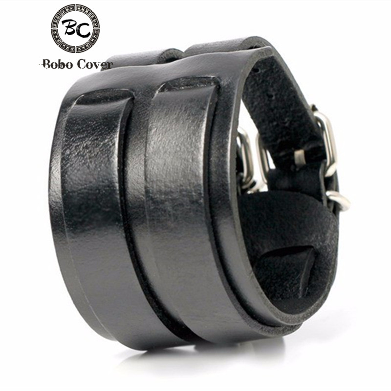 Bobo Cover Genuine Handmade Leather Men Women's Bracelets High Quality Wrap Minimalist Style Trendy Charm Leather Bracelets