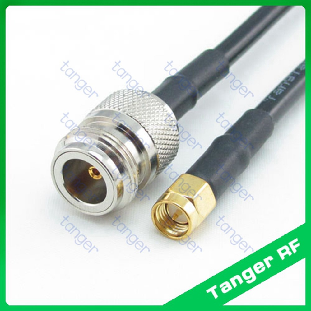 Hot selling Tanger N female jack to SMA male plug straight RF RG58 Pigtail Jumper Coaxial Cable 3feet 100cm and High Quality