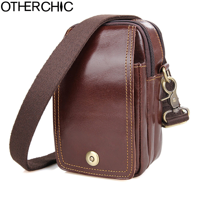 OTHERCHIC Oil Wax Genuine Leather Men <font><b>Waist</b></font> Packs <font><b>Bag</b></font> Travel Belt Loops Wallet <font><b>Phone</b></font> Pouch For Men 17Y14