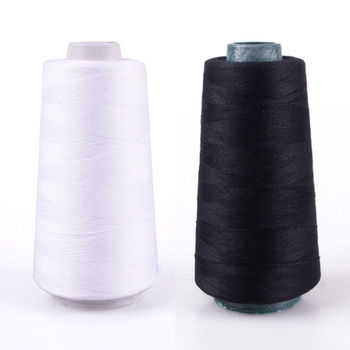 Durable 3000M Yards Overlocking Sewing Machine Line Industrial Polyester Thread Metre Cones Black White Sew Thread image