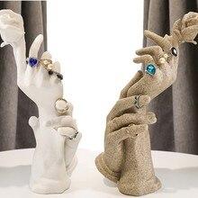 Модное кольцо из смолы, ручная форма, ювелирные изделия, дисплей, Manequin, кольцо, держатель, ювелирные изделия, дисплей, стойка, браслет, ожерелье, демонстрационная стойка, опора