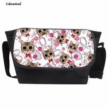 d80a2c3c3bc8f Coloranimal School Bags for Teenager Girl Boy Student Kids Sunglasses Cat  Flower Bookbag Satchel Women Men