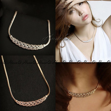 Collares Maxi Necklaces Wheat Rhinestone Short Necklace Choker Necklace Chunky Statement Necklace Vintage Fashion Jewelry WD273 цены онлайн
