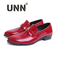 2016 Fashion Men's Casual Leather Flats Red Oxford Dress Shoes Wedding Flats Spring&Autumn  Black Business Men's Shoes