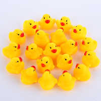 100pcs/lot Squeaky Rubber Duck Duckie Bath Toys Baby Shower Water Toys for baby Children Birthday Favors Gift free shipping