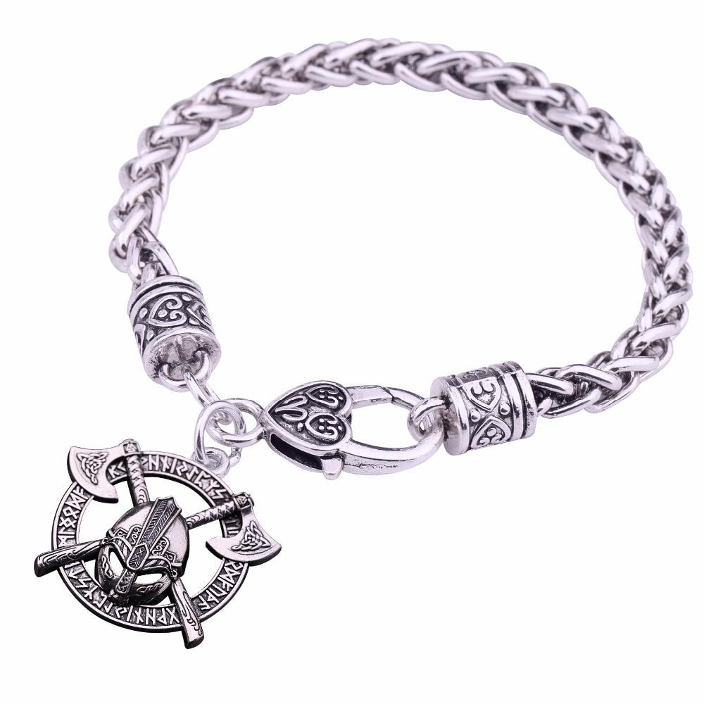 Bracelet casque Viking Odin  2