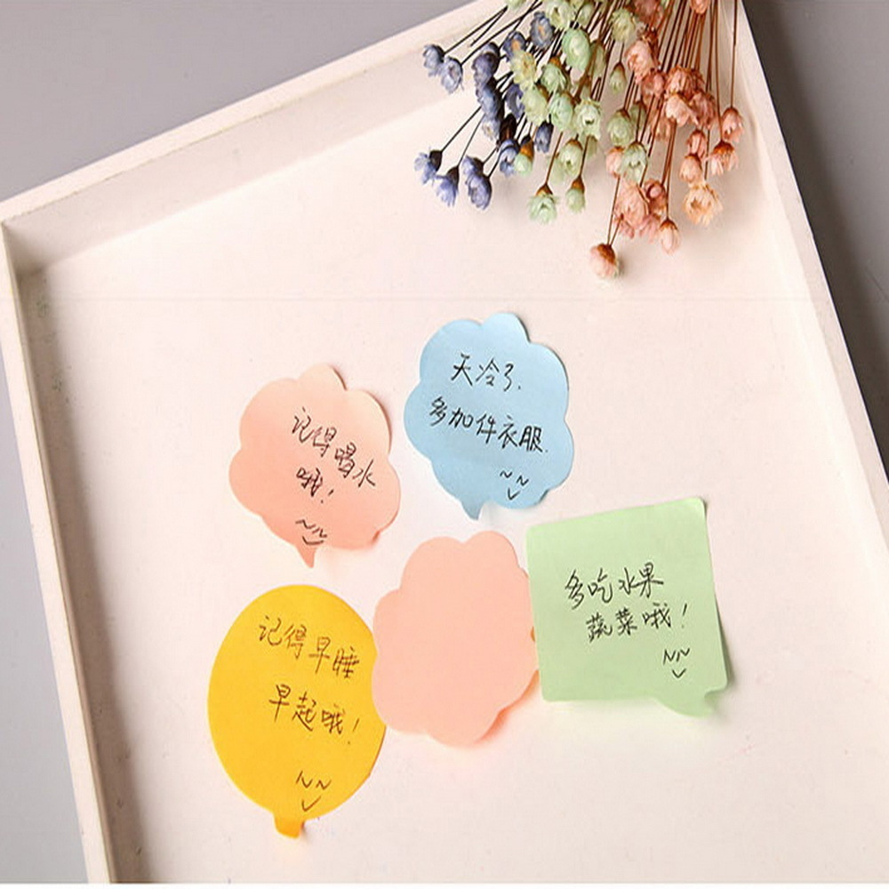 BPColor paper stick note paper, message paper memo pad kawaii stickers scrapbooking stationery-stationery WJ-BQB3 lovely notepad fold folder memo note scratch pad doodle message book w pen stationery
