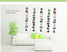 2 sets 1.5/3m Magnetic Photo Hanging Rope Horizontal/Vertical Iron Rope Wall Photo Frame Picture Display Art Home Decoration(China)