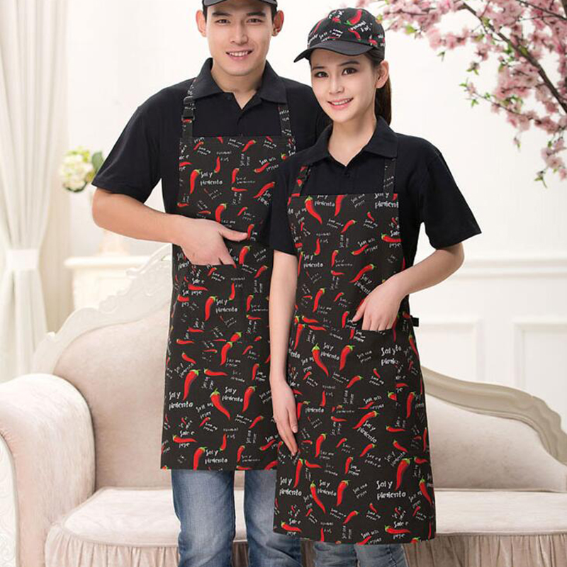 12 Colors Hot New Arrival Men Women Kitchen Cooking Wear Apron Chili Stripe Grid Reataurant Chef Aprons Housewife Cooking Wear
