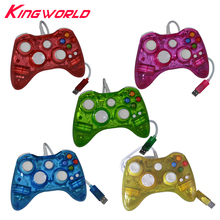 50pcs USB Wired Game Handle LED Light Colour Glow Portable Game Controller Gampad For Microsoft for Xbox 360 Accessories