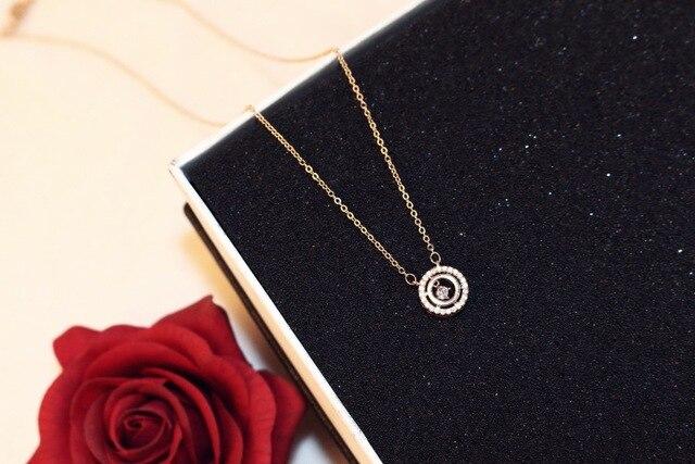 Женское многослойное ожерелье с кулоном в виде сердца