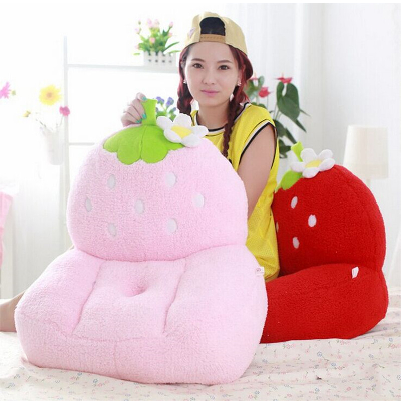 fancytrader lovely pink strawberry plush toy sofa fruit strawberry tatami chair seat doll gift for children super cute plush toy dog doll as a christmas gift for children s home decoration 20