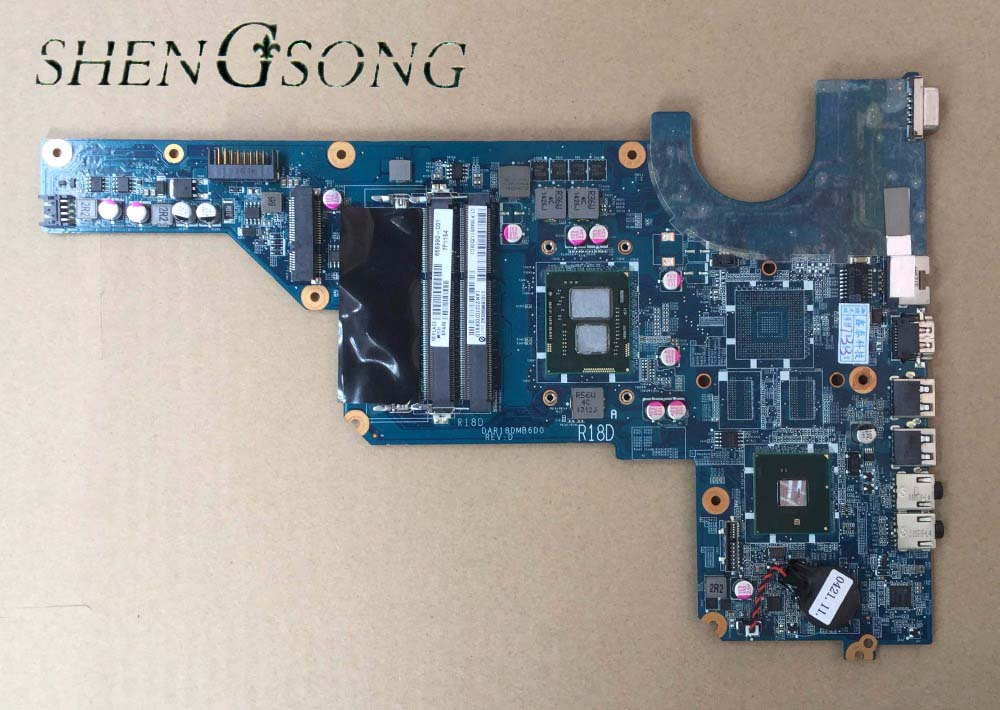 Free shipping FIT FOR HP G4 G6 G7 G4-1000 G6-1000 LAPTOP MOTHERBOARD CPU: I3-370M 655990-001 DAR18DMB6D1 574680 001 1gb system board fit hp pavilion dv7 3089nr dv7 3000 series notebook pc motherboard 100% working