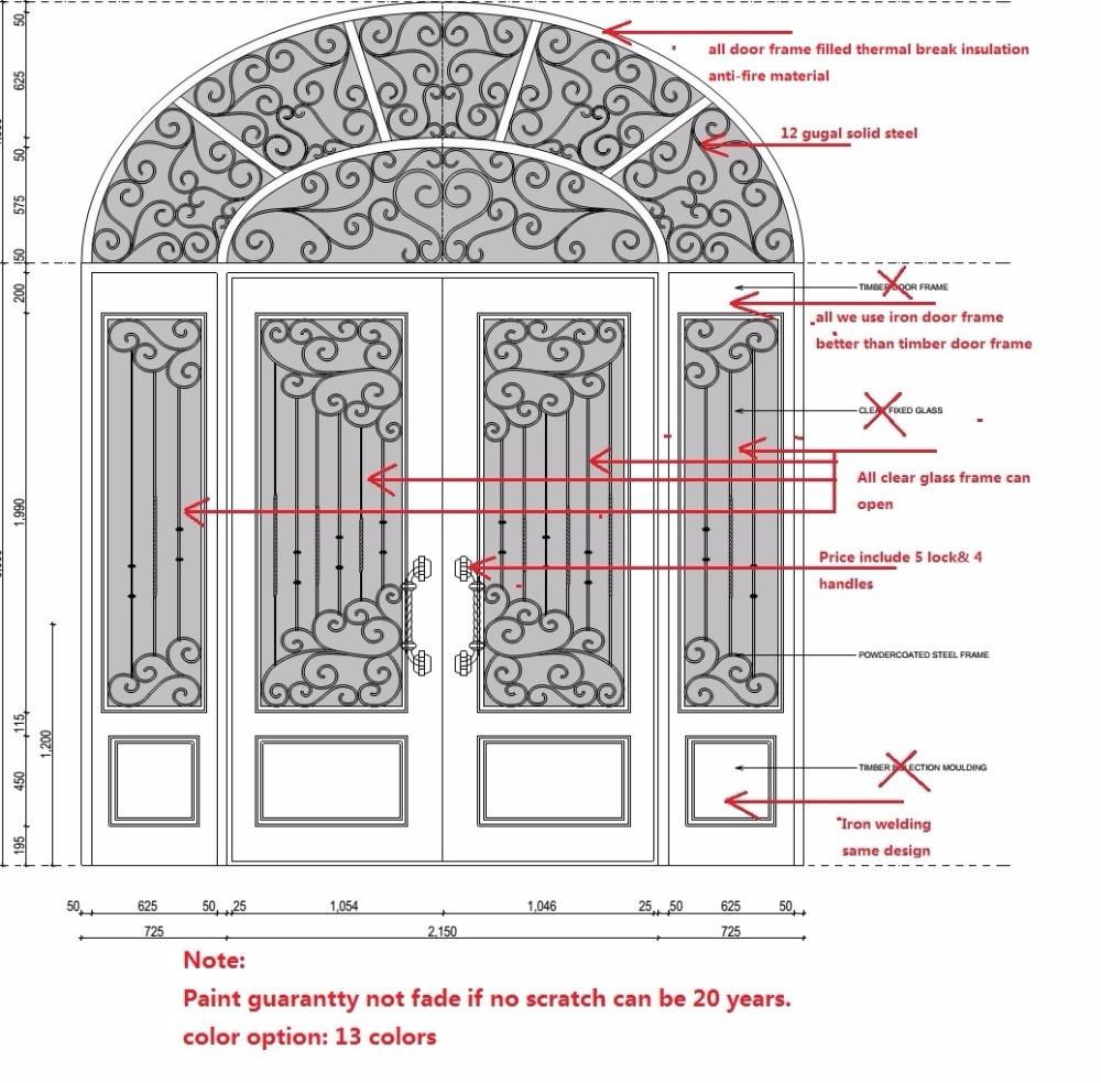 Hench 100% Steel Iron Doors  Model Hc-id99
