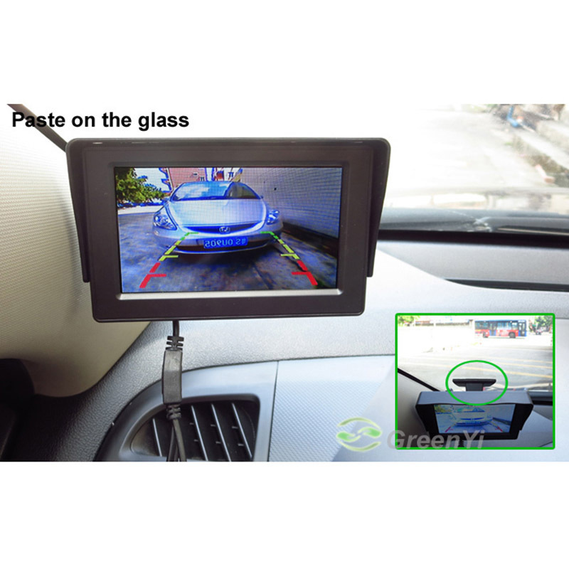 4.3 Inch TFT LCD Color Rearview Monitor and Mini Hide Rear View Backup Reversing Camera for Car Parking Safe Driving