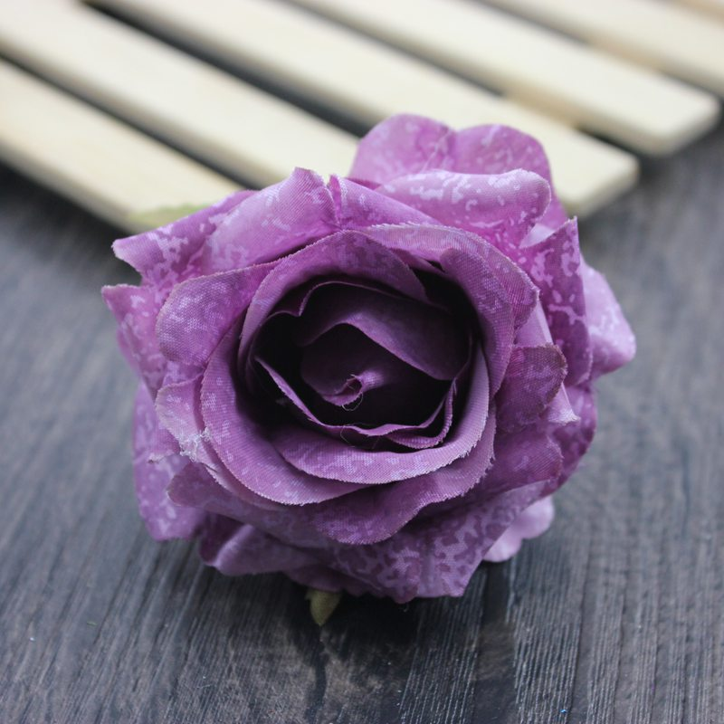 7 PCS lot 7cm Multicolor Artificial rose head Use For Wedding Decoration DIY Wreaths Craft Gift Supplies in Artificial Dried Flowers from Home Garden