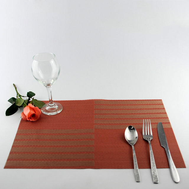 Placemat Table Mat Western Pad Placemats Pvc Kitchen Mats Dinning Waterproof Cloth Spoon