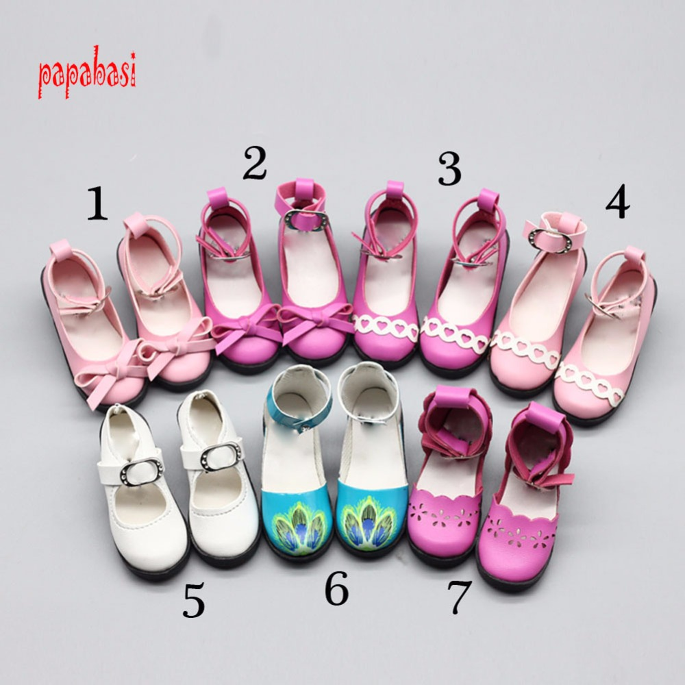 7.8cm 1 Pair PU Shoes For BJD SD Doll Toy Mini Doll Shoes for 1/3 BJD 60CM Sharon doll Boots Doll Accessories