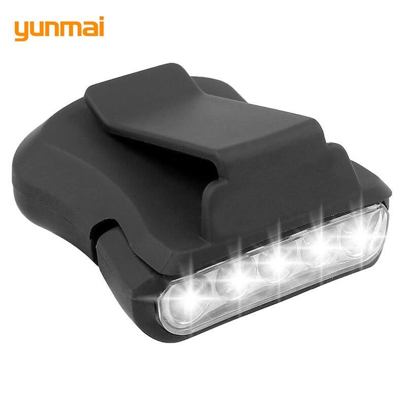 Yunmai Leistungsfähige Kappe Licht 5 LED Waterptoof Scheinwerfer Fokus Tragbare Angeln Scheinwerfer 2000 LM LED Stirnlampe Radfahren Lanterna