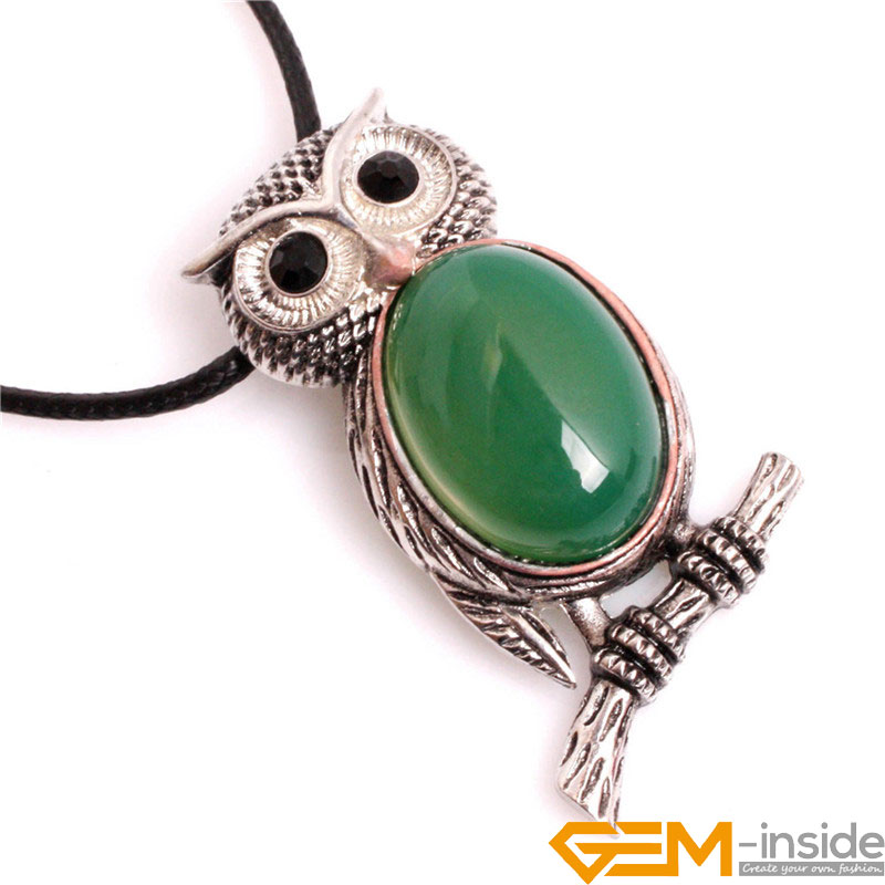 Different Size Colorful Cleaver Owl Animal Pendant Leather Necklace 18 Inches For Mother Handmade Fashion Jewelly Wholesale !