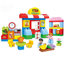 57pcs City Supermarket Building Blocks Compatible Duploe City Mall Bricks Toy 188-44 цена в Москве и Питере