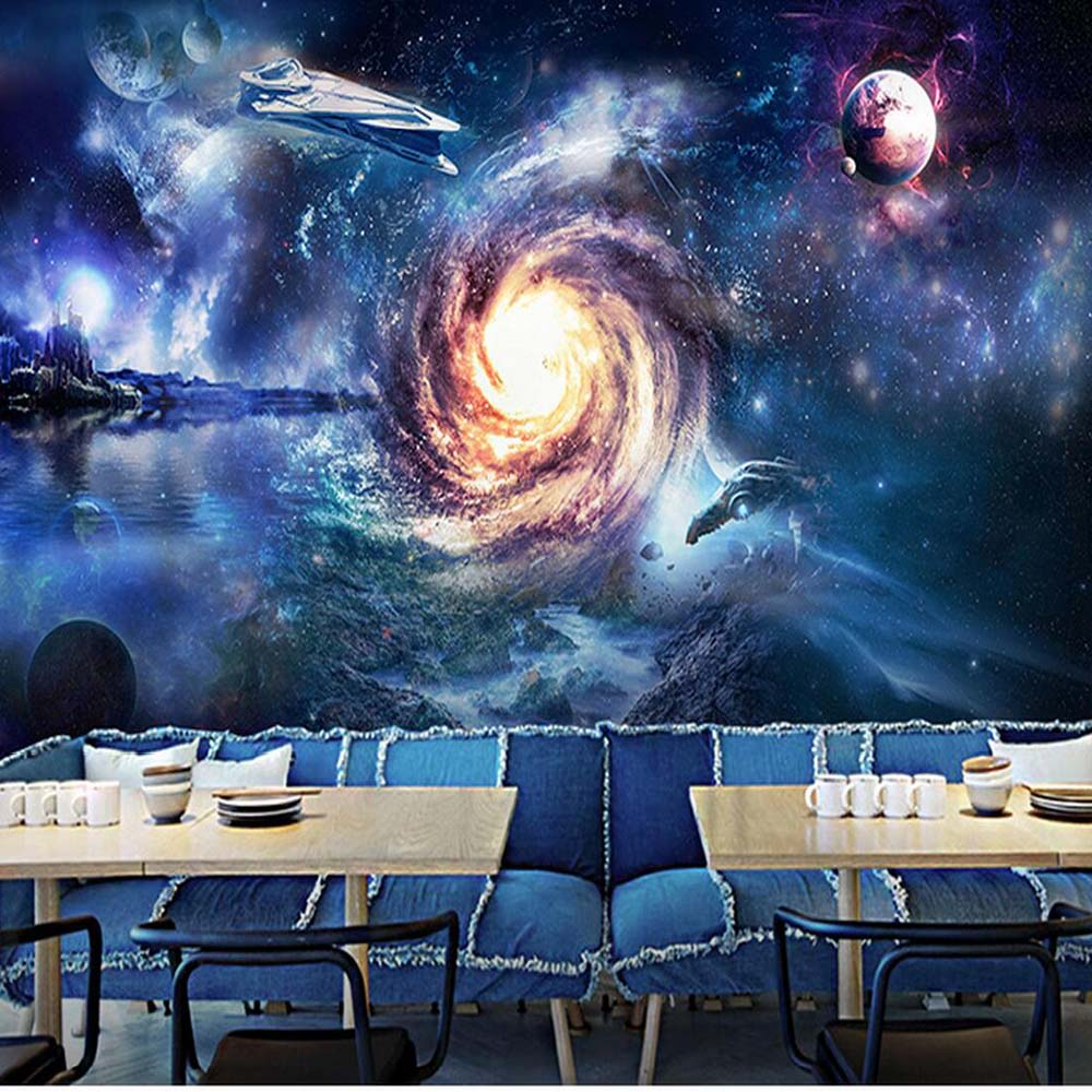 100 outer space wall mural giant size beautyful planets outer space wall mural 3d abstract photo mural wallpaper flower circle ball wall paper