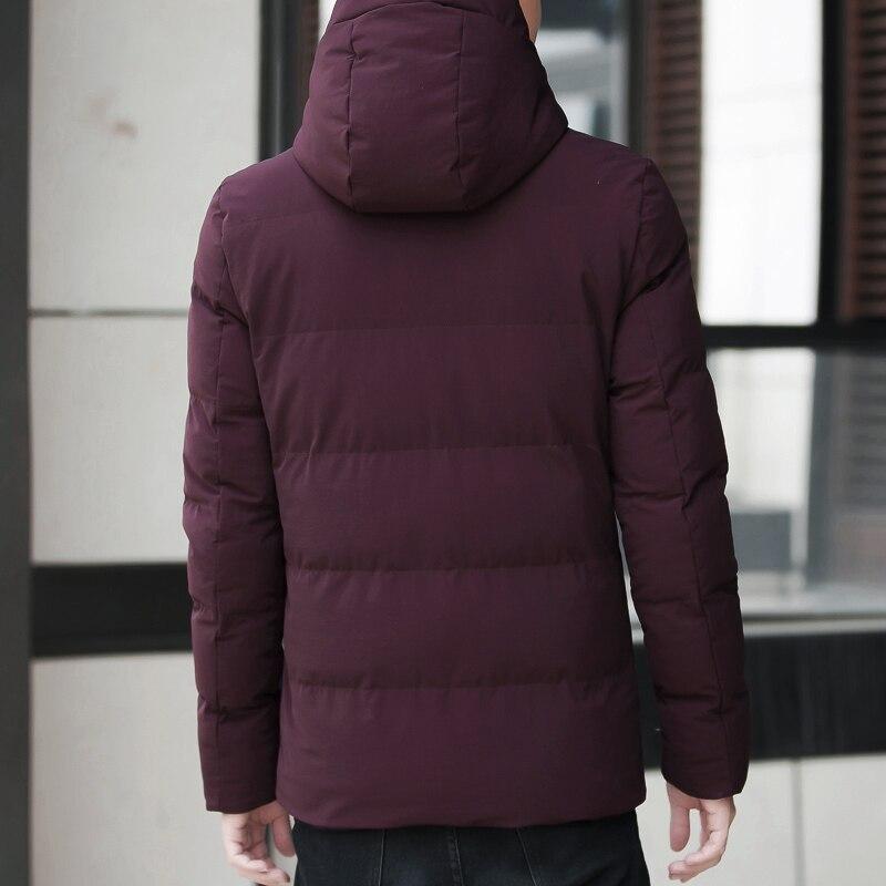 Marque hiver veste hommes vêtements 2018 décontracté col montant à capuche col mode hiver manteau hommes parka chaud Slim fit 4XL - 4