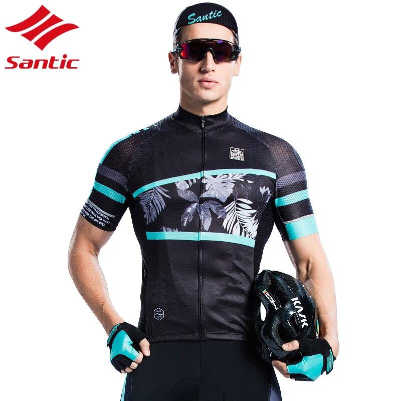 Santic Maillot de cyclisme hommes Maillot été respirant Motocross Maillot cyclisme vêtements descente Maillot chemise Maillot Ciclismo