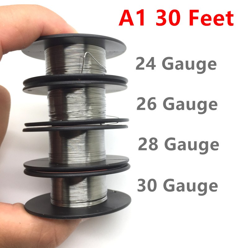 A1 Wire  24GA 26GA 28GA 30GA For RDA RTA RDTA DIY Electronic Cigarettes Vape Vapor Resistance Wire Heating Coil (10m/roll)