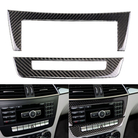 Car Central Control CD Panels Decor Sticker Cover Trim Fit For Mercedes Benz W204 2010 2013