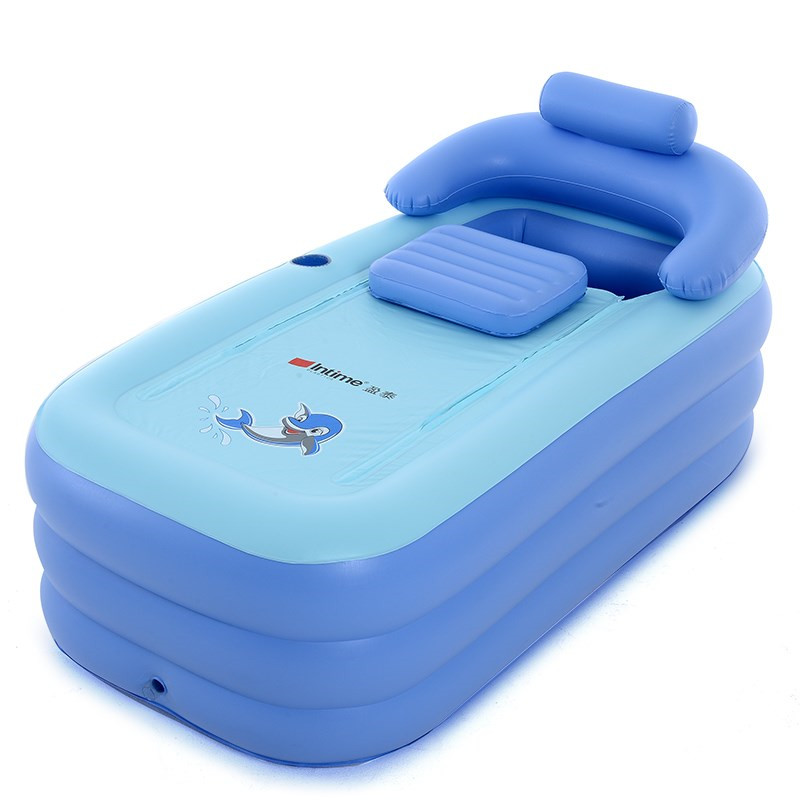 Adult spa pvc folding portable bathtub for adults for 4 6 tub