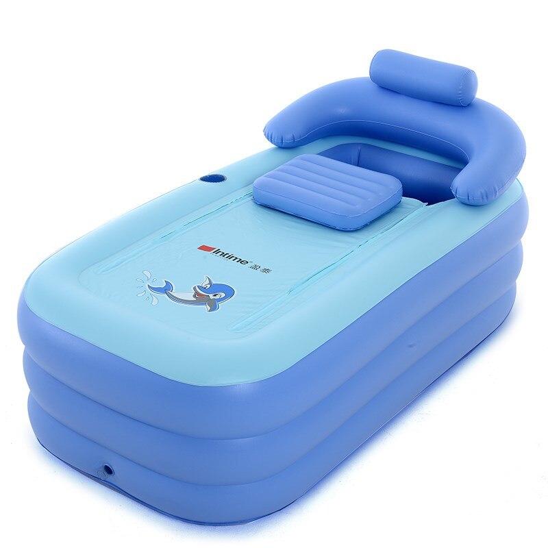 Baignoire portative se pliante adulte de PVC de Spa pour la taille 160 cm * 84 cm * 64 cm de baignoire gonflable d'adultes avec la pompe électrique